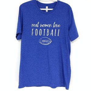 Canvas 'Real Women Love Football' t-shirt Large